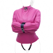Affordable yet confining vegan friendly strait jackets fit petite to medium-sized people.